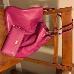 Beautiful magenta coach purse!